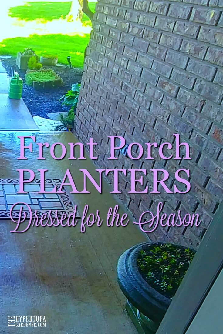 Front Porch Planters - all ready for the season