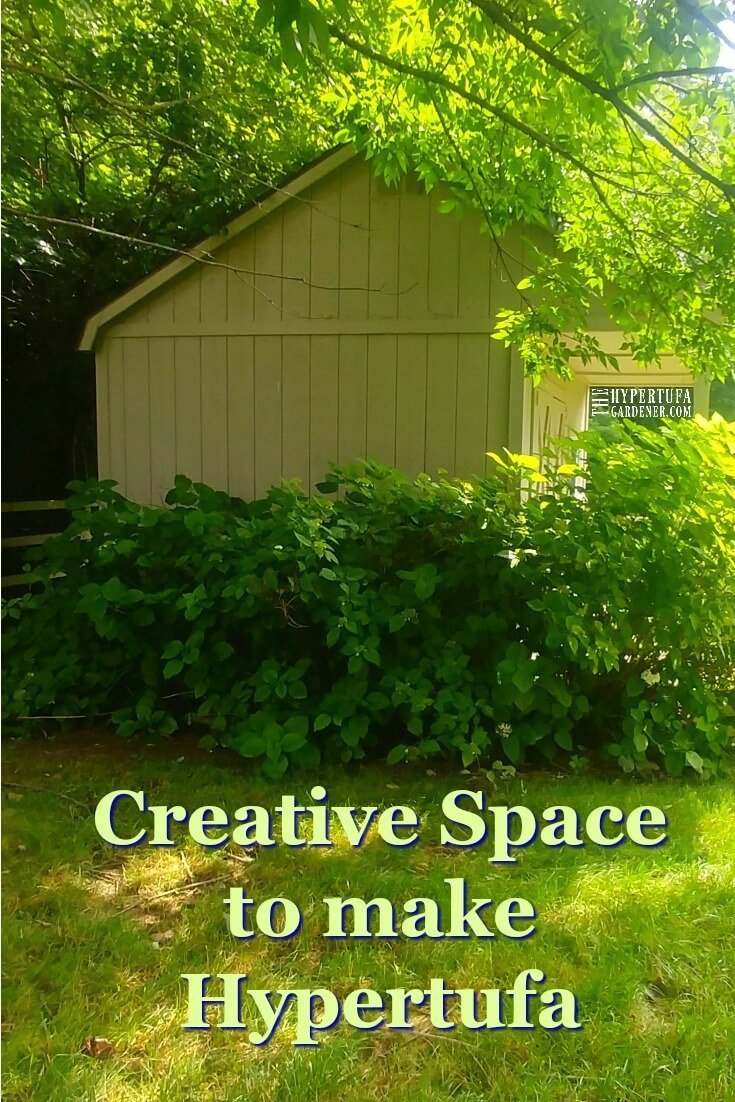 I need a creative space to make hypertufa