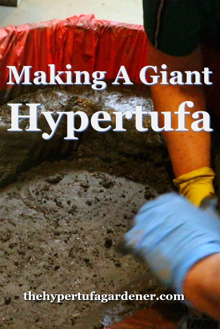 image of making a hypertufa trough