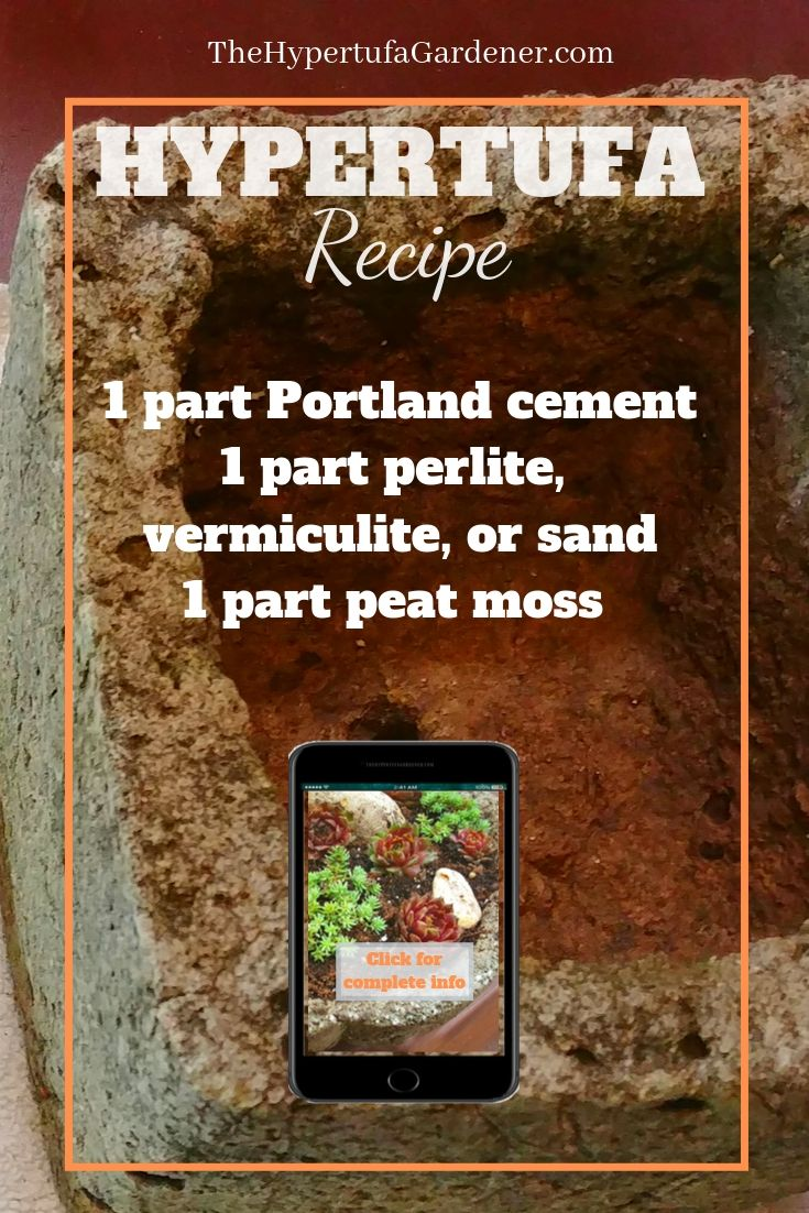 Pin image for hypertufa recipe