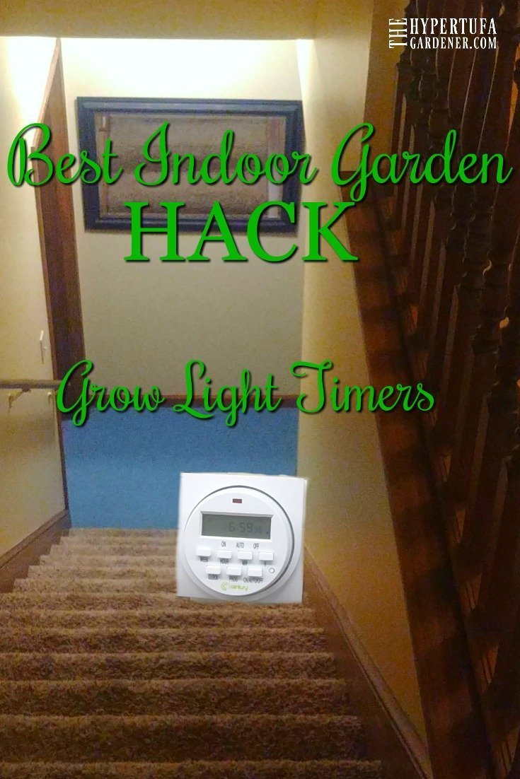 Indoor garden hack - grow light timers, saves so many steps