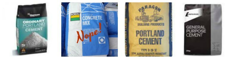 images of cement packaging