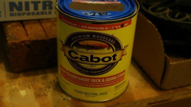 image of can of Cabot paint