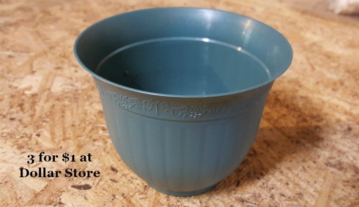 image of small dollar store pot