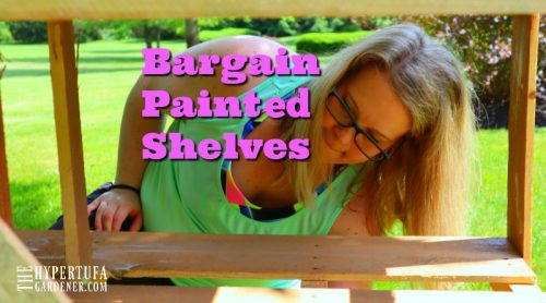 Painting Those Bargain Plant Shelves For The Deck