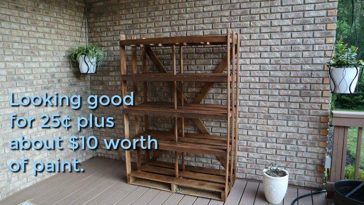 image of plant shelves back on deck