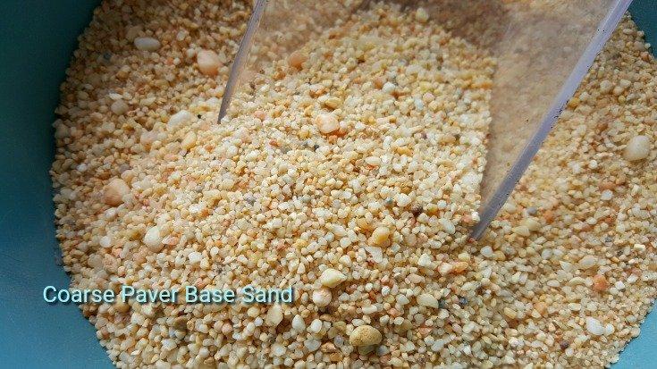 image closeup of coarse paver base sand