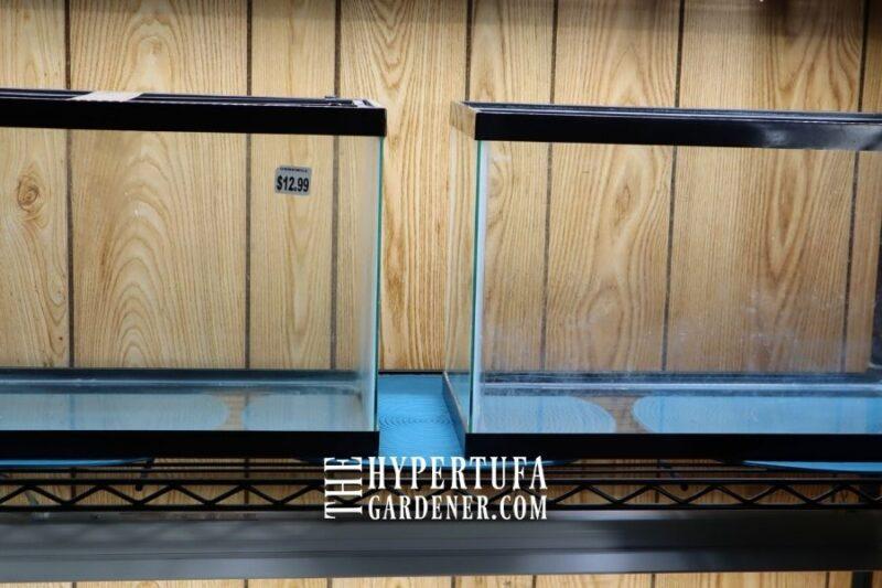 image of set of two aquarium for terrarium use