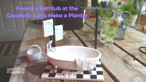 String of Pearls Bathtub Planter – Tub of Bubbles (Pearls!)