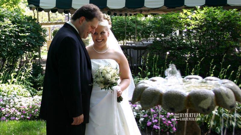 wedding couple in 2004 cicada invasion