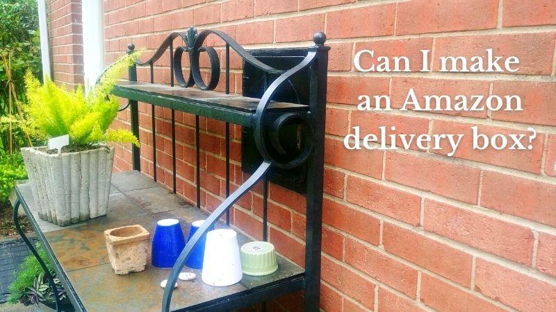 Milk door guarded by heavy garden table